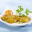 Carrot and courgette pancakes