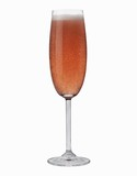A glass of rosé sparkling wine