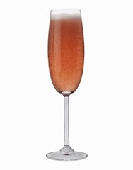 A glass of rosé sparkling wine