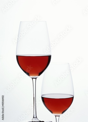 Two glasses of red wine