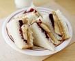 Peanut Butter, Jelly and Banana Sancwiches