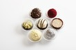 Assorted chocolates in paper cases