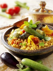 Couscous with fried vegetables