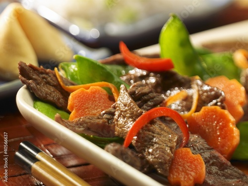Beef and Vegetable Stir Fry; Fortune Cookie