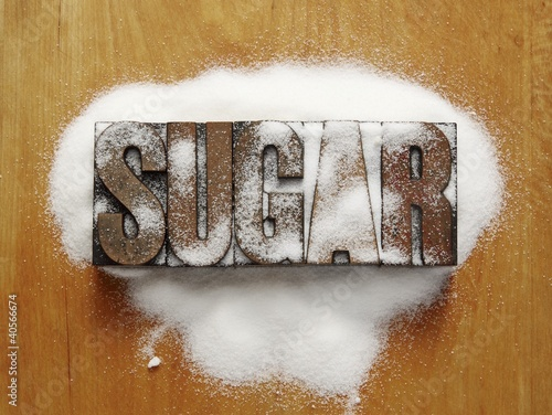 The Word Sugar with White Sugar