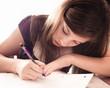 Girl doing work for school