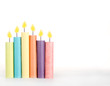 Birthday candles made out of paper