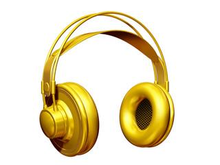 golden Headphone half profile