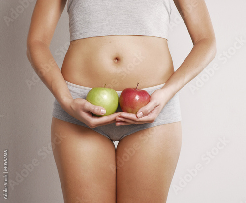 Digestión sana con manzana.