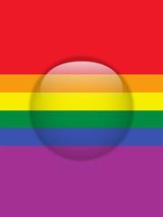 Circle Glass Glossy Button Gay