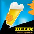 Cheers, Beer Art Deco Stle Poster