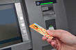Electronic banking,  credit card by ATM