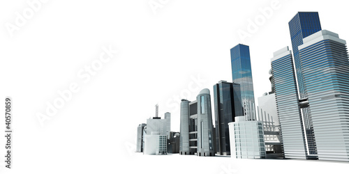 3d rendered abstract illustration of a city skyline