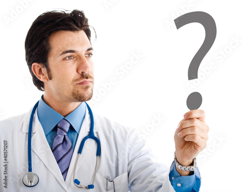 Doctor having doubts