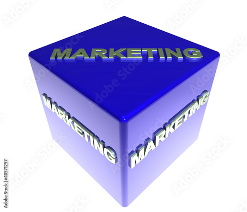 3D Blauwuerfel - MARKETING
