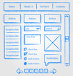 Website design sketch style kit