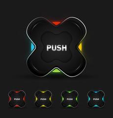 Vector futuristic button