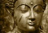 Fototapety Grunge Buddha Foto - Abgeblätterte Farbe