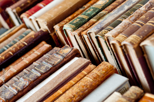 canvas print picture old books background