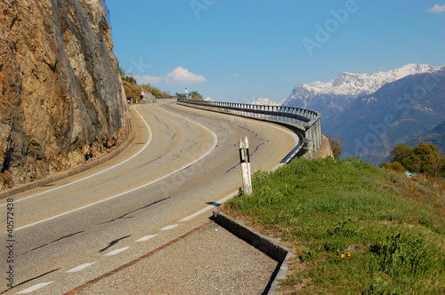 High Road at the Swiss Alps - Valais Region