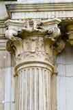 Corinthian column capital , facade of the University of Alcala d poster