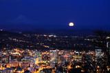 Beautiful night view cityscape from pittock manson