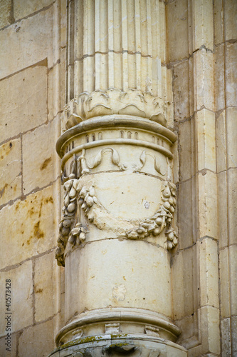 Greek Column, facade of the University of Alcala de Henares, Mad © Fernando Cortés