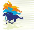 Pferderennen Zieleinlauf