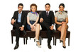 Four business people on chairs