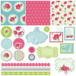 Scrapbook Design Elements - Rose Flowers in vector