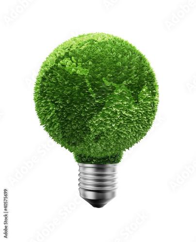Green leaf Earth bulb