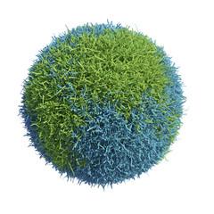 Grass covered Earth globe