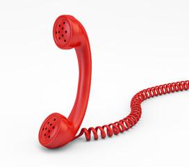 Old vintage phone handset