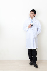 a portrait of asian doctor