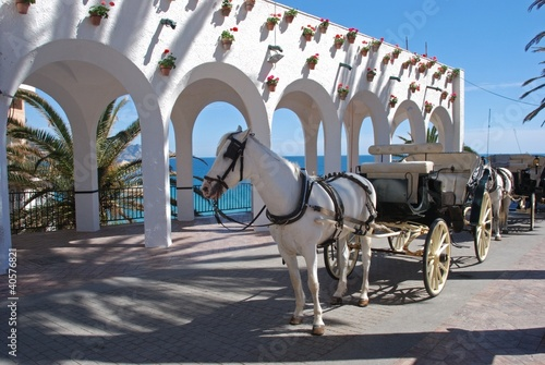 Horse & Carriage, Balcony of Europe, Nerja, Spain © Arena Photo