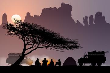 Bivouac au désert - Soua l'arbre