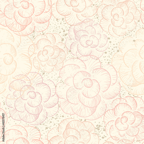Abstract seamless flower texture
