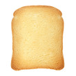 Toast loaf on white, clipping path included
