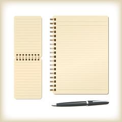 メモ帳とノートとペン