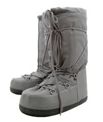 Grey moon boots