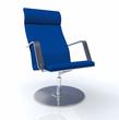 Der Designer Chefsessel Blau Silber