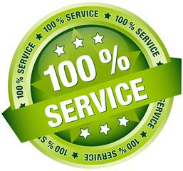 "Button Banner ""100 % Service"" grün"