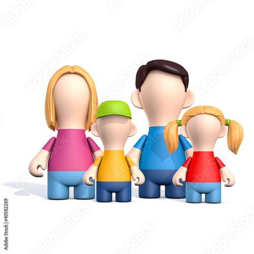 Familie - Mutter, Vater, Tochter und Sohn