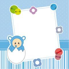 Marco fotos bebe dentro del huevo