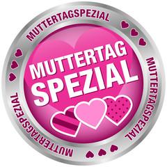 Button Muttertagspezial Herzen pink/silber