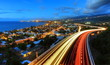 Trafic dense sur la route des Tamarins.