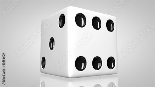 3D dice turn around 01