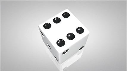 3D dice turn around 03