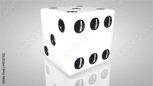 3D dice turn around 02