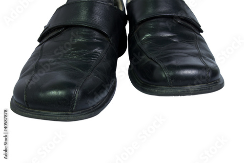 men's shoes on white background